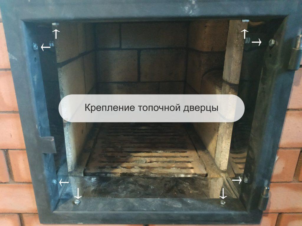 Блог печников. Крепление топочной дверцы