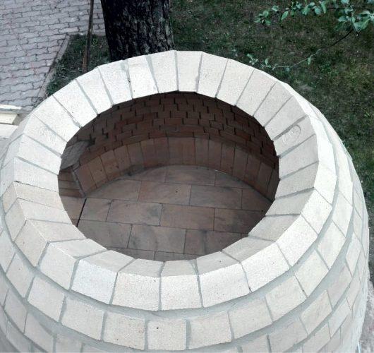 Строительство свода помпейской печи