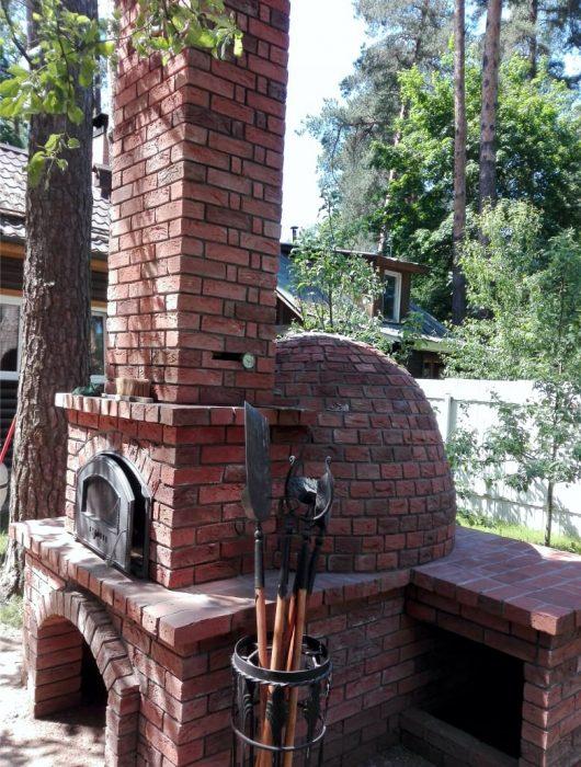Помпейская печь со столешницей