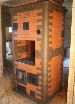 Строительство Голландской печи 4 на 3.5 кирпича с варочной поверхностью (Печной Доктор)